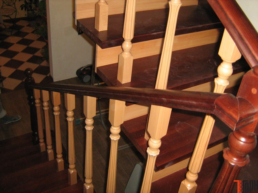 Как облицевать лестницу деревом своими руками 42