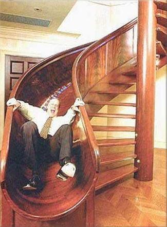Необычные лестницы - лестница-горка