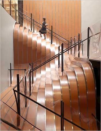 Необычные лестницы - лестницы из стальных полос