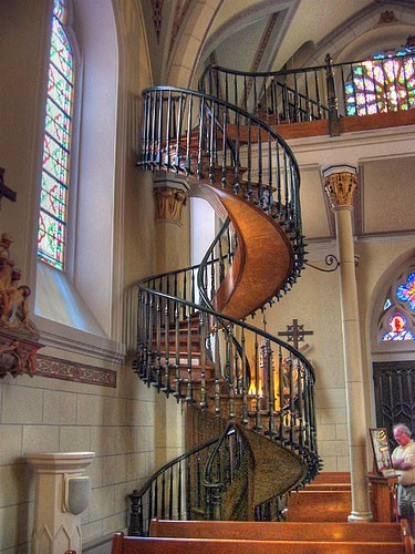 Необычные лестницы - спиральная лестница
